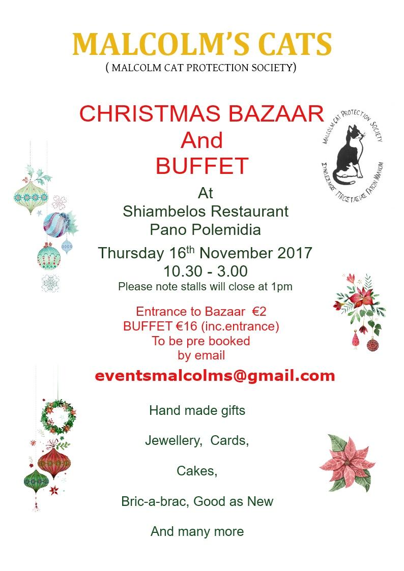 2017 christmas bazaar buffet